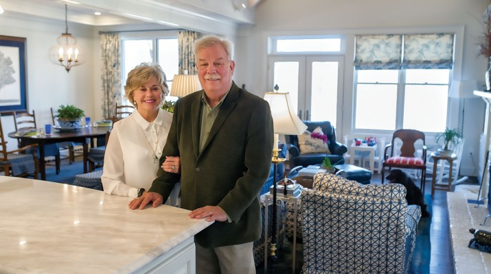 Philip and Mary Hart Wilheit recently finished their new home on Lake Lanier. In securing the site for their new home they also made sure to leave enough space to have family nearby.