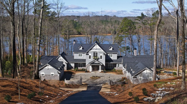 Philip and Mary Hart Wilheit's new home on Lake Lanier.